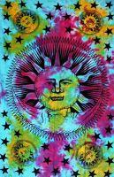 Wandtuch | Überwurf - The SUN & The MOON - batik