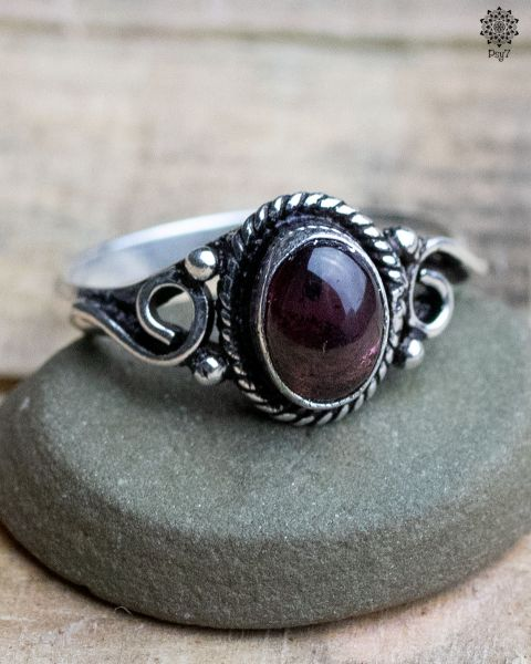 Ring Alrun silber | Achat Beere