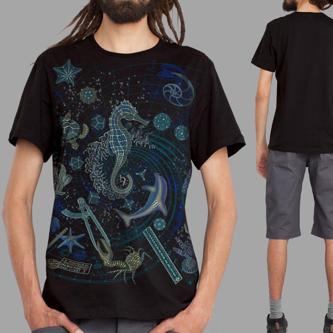 T-Shirt The Blue Print 2 - Sea   UV-aktiv