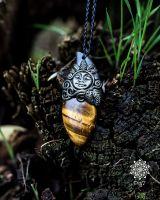 Amulett | Halskette - Tigerauge