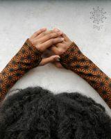 Armstulpen - Handstulpen | Asanoha goldenbrown