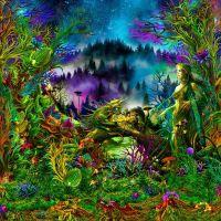Wandtuch | Backdrop Elven Forest - uv-aktiv