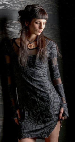 Kleid Inanna - Black Tribal