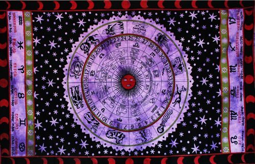 Wandtuch | Überwurf - Horoskop - Violet