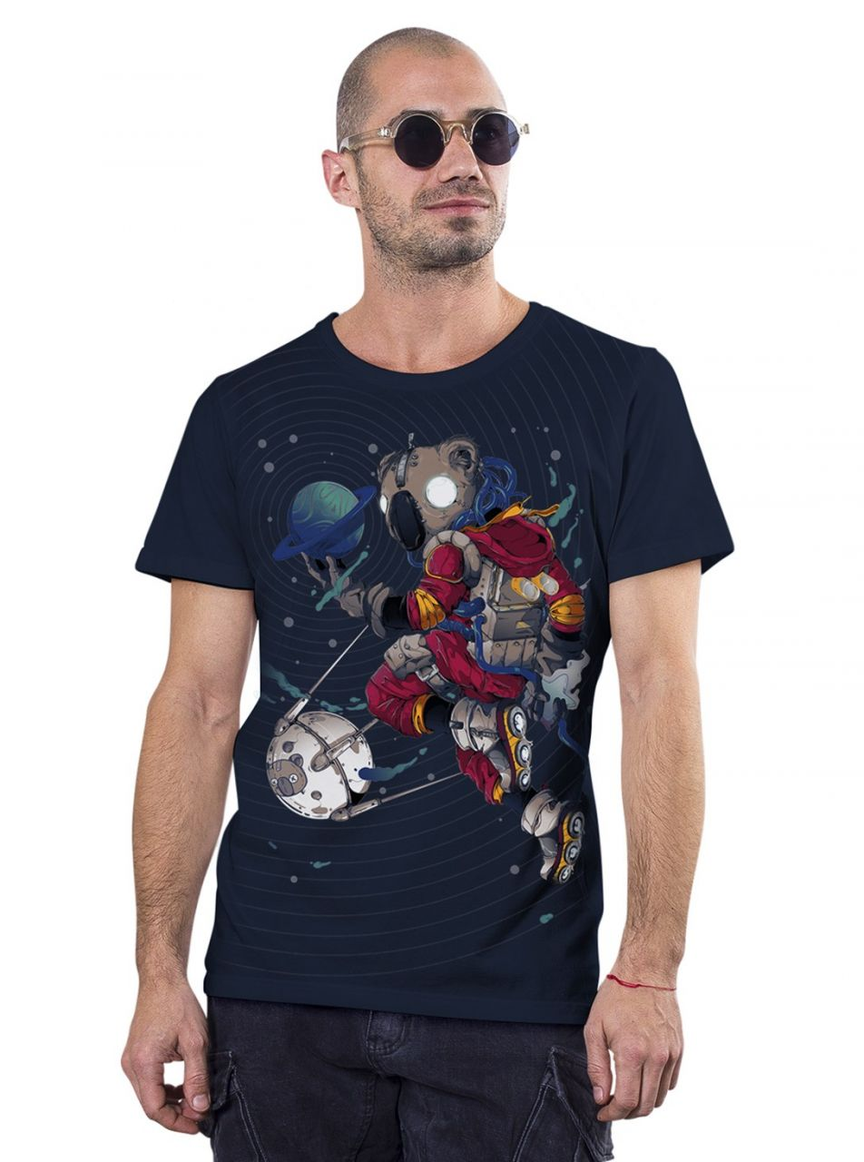 T-Shirt Space Koala | dunkelblau