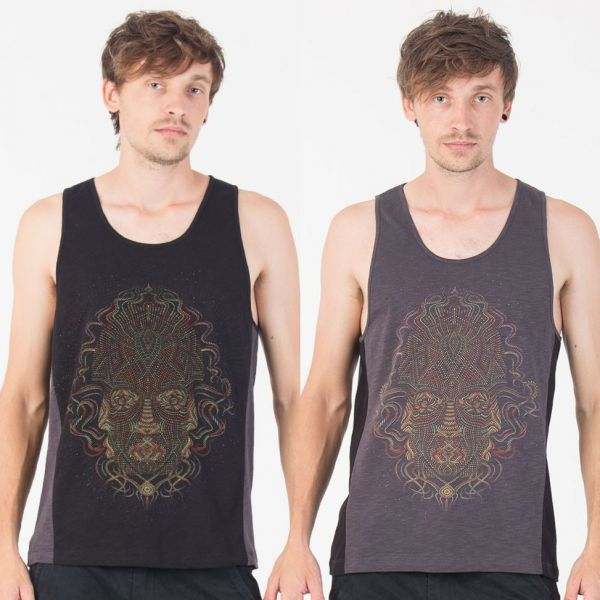 Tank Top Trimurti | black grey