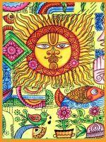 Wandtuch | Überwurf  - Hippie Sun