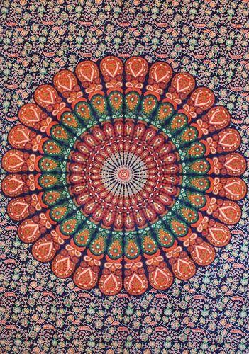Wandtuch | Überwurf - Terra Mandala Peacock