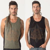 Tank Top Anahata | black green