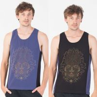 Tank Top Trimurti | black blue
