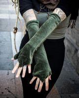 Samt Armstulpen - Handstulpen | Aurelie - olive