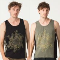 Tank Top Vortex | black green