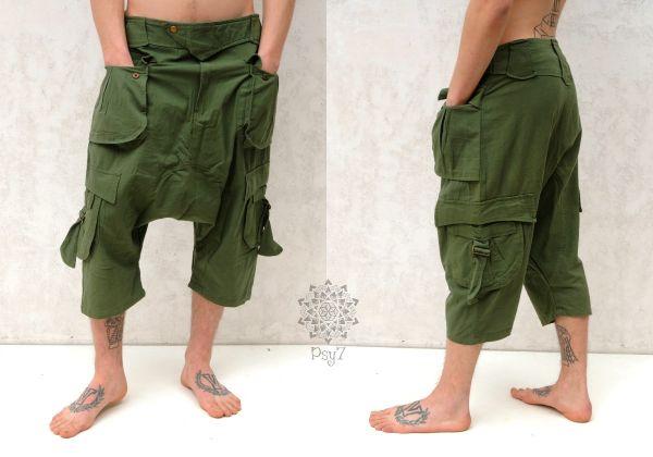 Haremshose | Cargo baggy - grün
