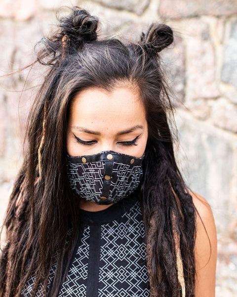 Mund - Nasen - Maske   2in1   Snake-Geo
