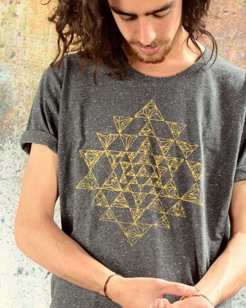 Organic Shirt | SRI YANTRA - grau