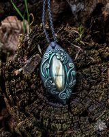 Amulett | Halskette - Labradorit #1