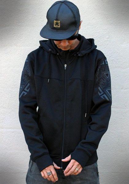Kapuzenjacke Vitality black | grey