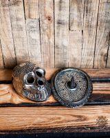 Räucherstäbchenhalter | Räucherkegelhalter - Skull