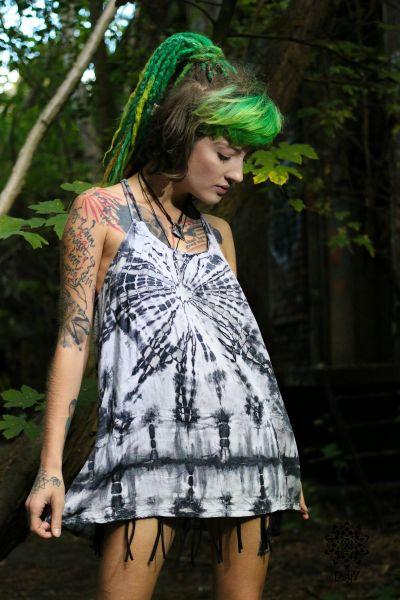 Batik Top | Black & White