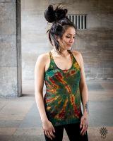 Batik Cross Top | grün