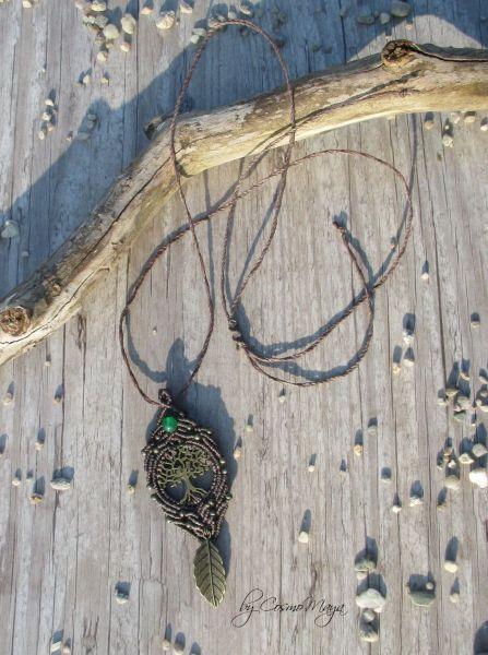 Makramee Kette - Amulett | Tree of Life