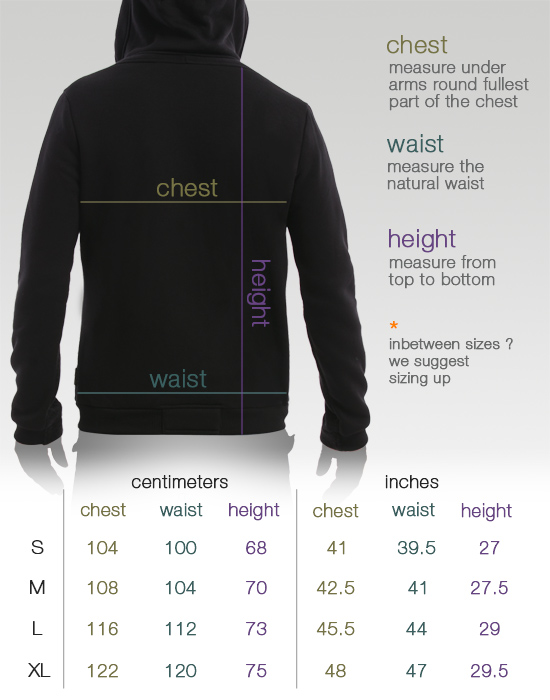 psy_t-shirt_man-hoodjacket_sizes