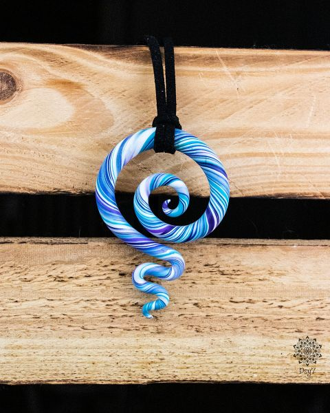 Kette | Anhänger | Fimo-Spirale #01