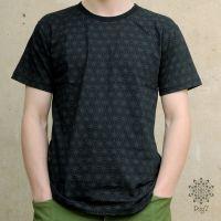 T-Shirt Asanoha | schwarz