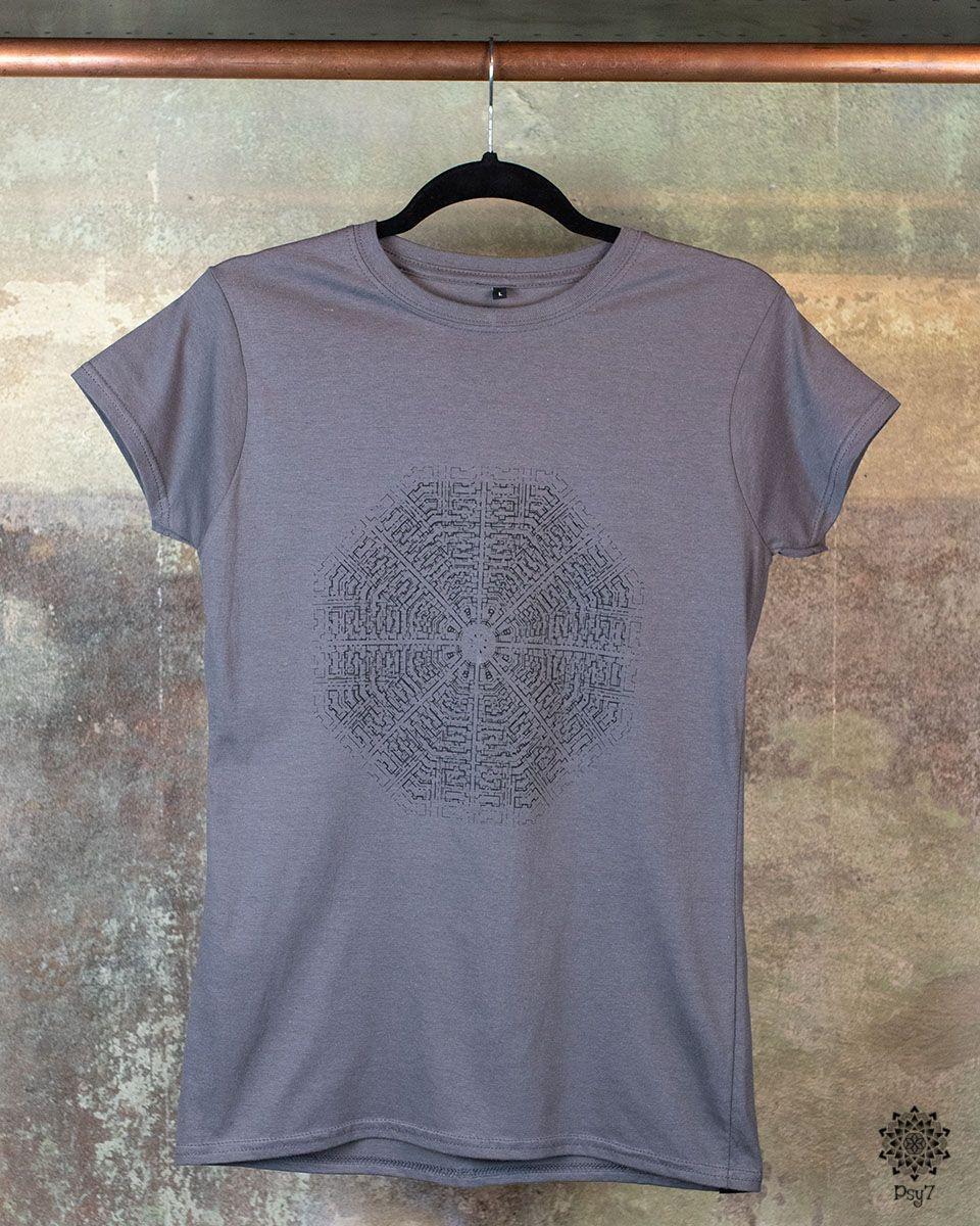 Girl Shirt | Oktagon Vision grau