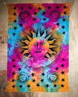 Wandtuch | Dekotuch - Sonne & Mond - batik