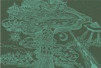 Postkarte | Alien Mushroom
