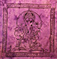 Wandtuch | Bettüberwurf purple Ganesha