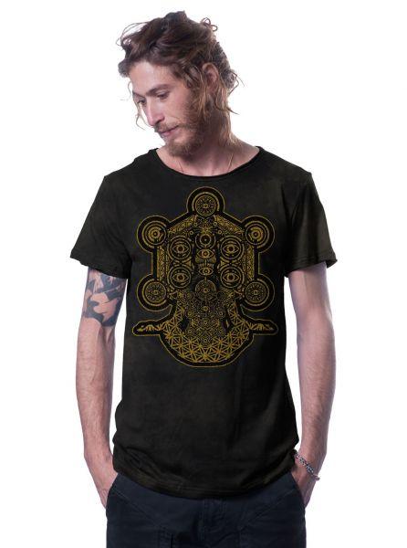 T-Shirt Gaia | schwarz batik