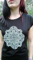 Girl Shirt Cicada-Skull-Mandala by Subliquida