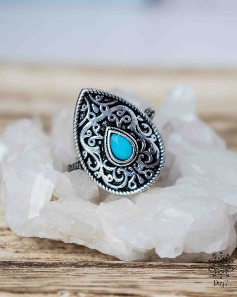 Ring Epona silber | Glas #1