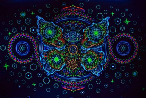 Wandtuch | Backdrop Butterfly Effect 2.0 - uv-aktiv
