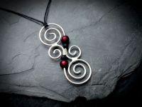 Koru Kette Messing | Silber | Rot