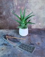 Räucherstäbchenhalter Lebensblume | Weißmetall