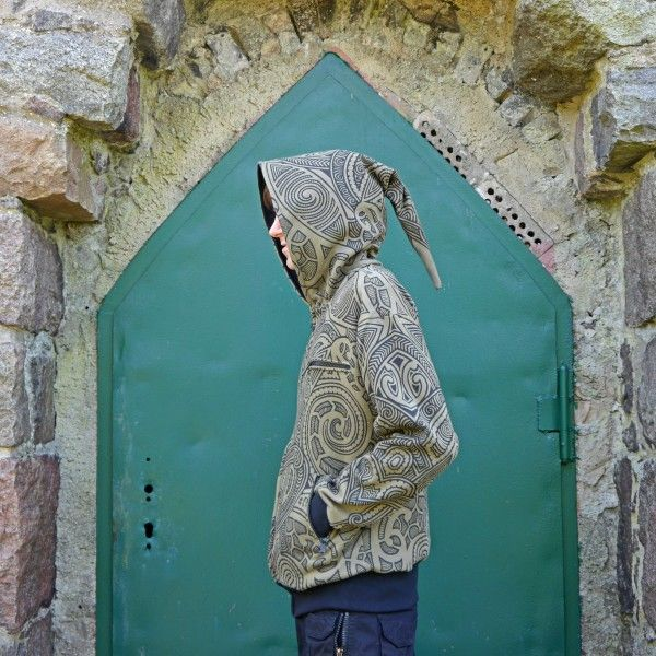 Hooded Zipper Nibiru Maori Olive