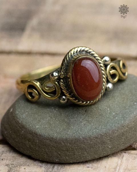 Ring Oda Oval | Karneol