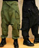 Haremshose Shalwar | Cargo - Men | braun - schwarz - grün