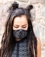 Mund - Nasen - Maske | 2in1 | Snake-Geo
