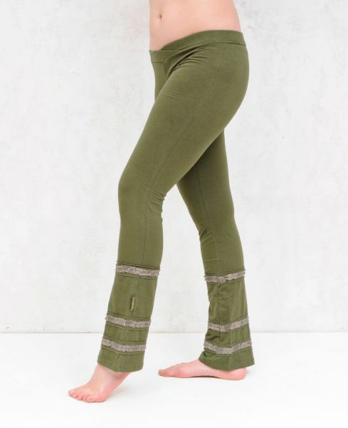 Luna Laced Pants | Olive