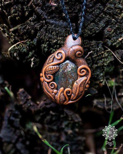 Amulette | Fimohalskette - Pietersit