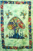 Wandtuch | Überwurf Pilz - grün