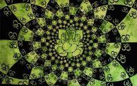 Wandtuch | Überwurf - OMM Ganesha - green