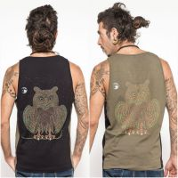 Tank Top Owl | black green