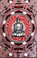 Wandtuch | Überwurf - Red Lovely Buddha