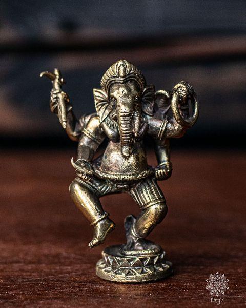 Messingfigur | tanzender Ganesha