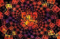 Wandtuch | Überwurf - OMM Ganesha - orange